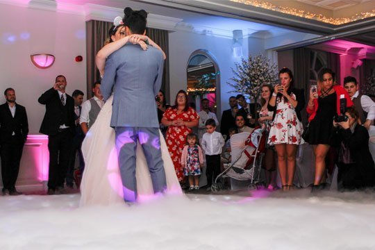 Wedding DJ Services - Dancing on a cloud first dance