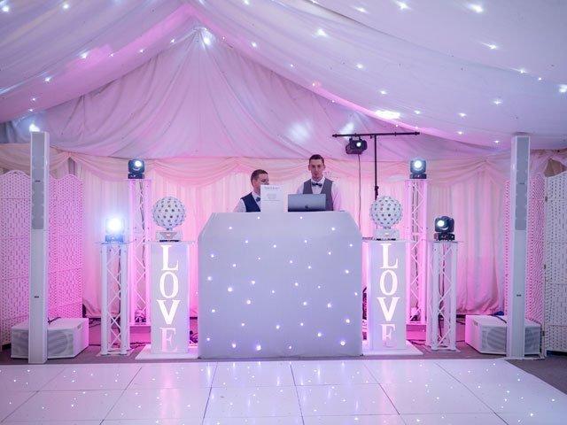 Ben Bell Wedding DJ, Set up at Hayne House