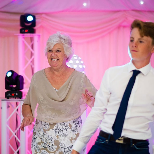 Guests dancing at a Hayne House wedding - Wedding DJ Ben Bell