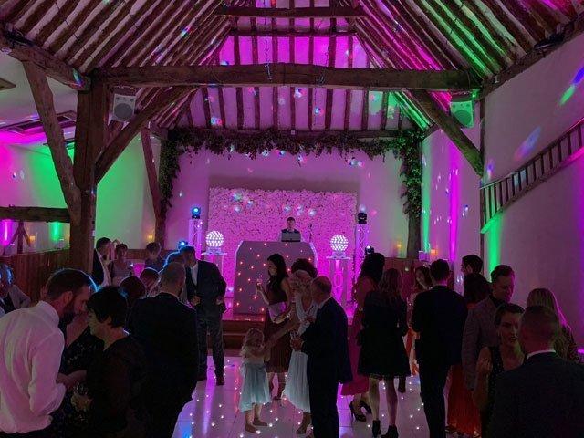 Winters Barn Kent Wedding DJ Set Up
